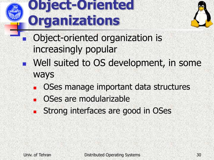 Object-Oriented Organizations