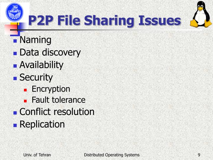 P2P File Sharing Issues