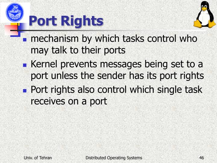 Port Rights