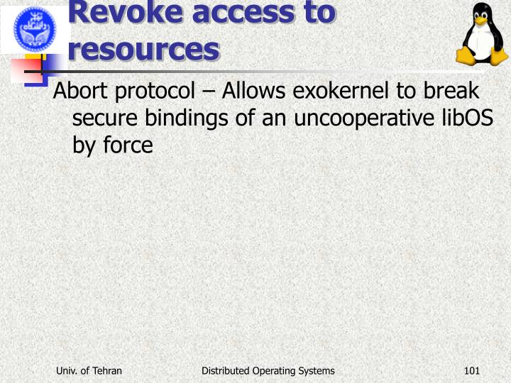 Revoke access to resources