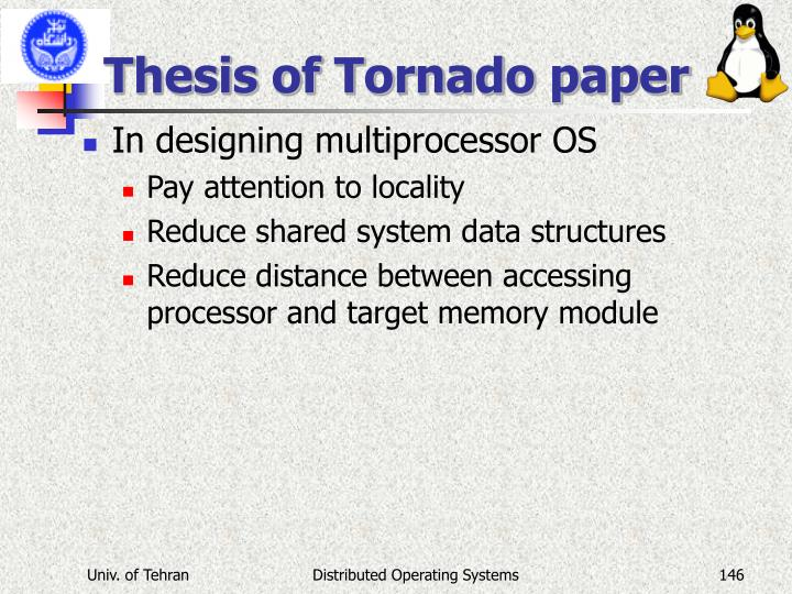 Thesis of Tornado paper
