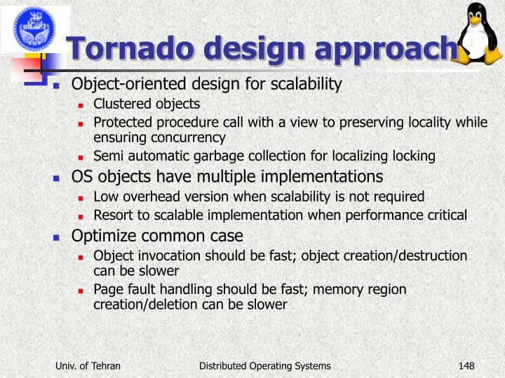 Tornado design approach