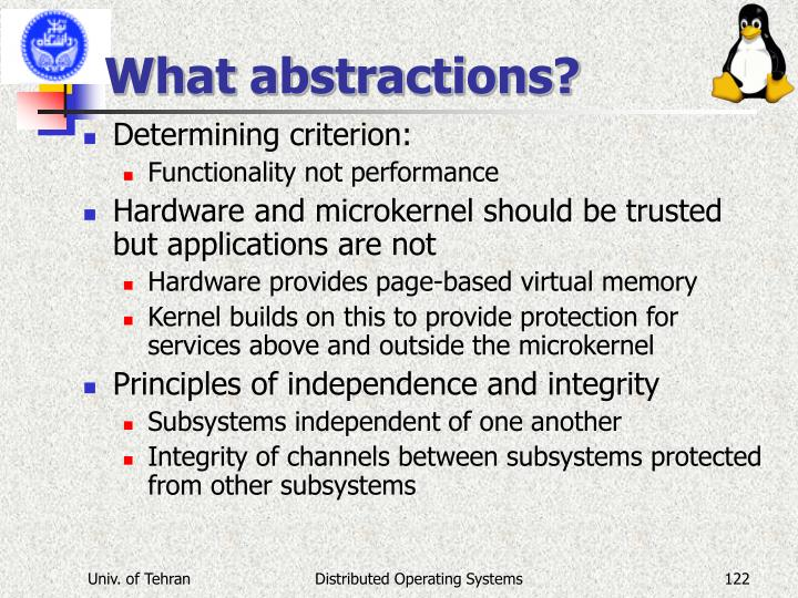 What abstractions?