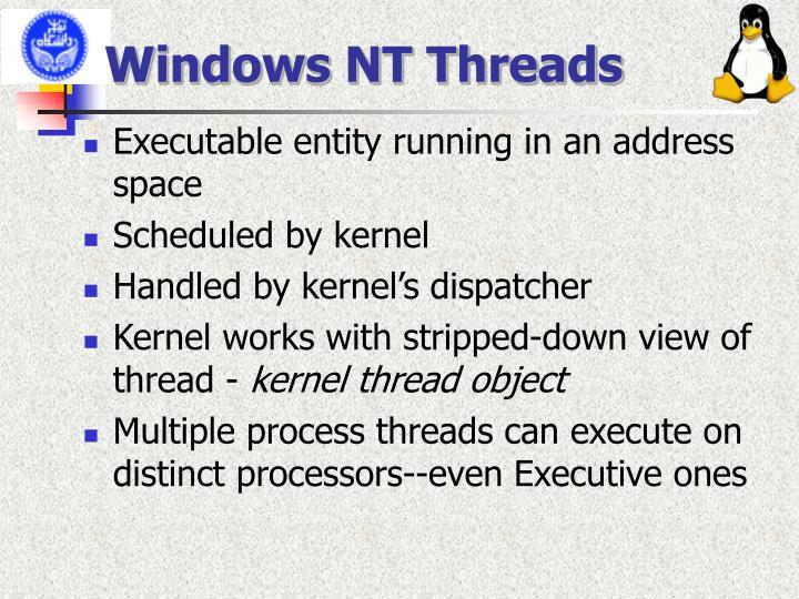 Windows NT Threads