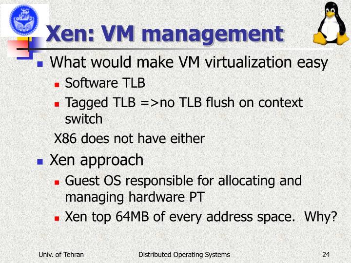 Xen: VM management