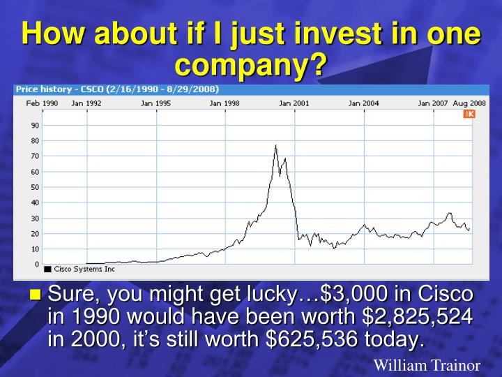 How about if I just invest in one company?