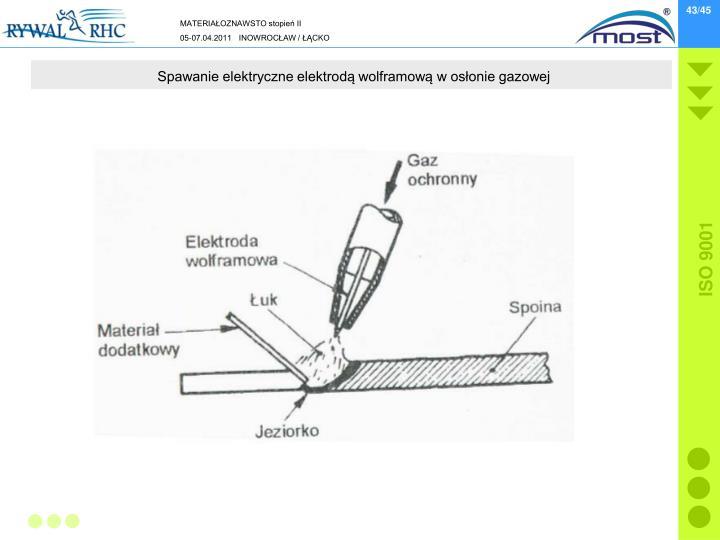 Spawanie elektryczne elektrodą wolframową w osłonie gazowej