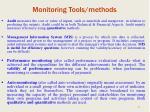 monitoring tools methods