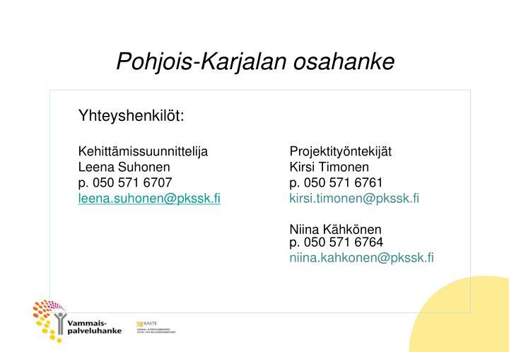 Pohjois-Karjalan osahanke