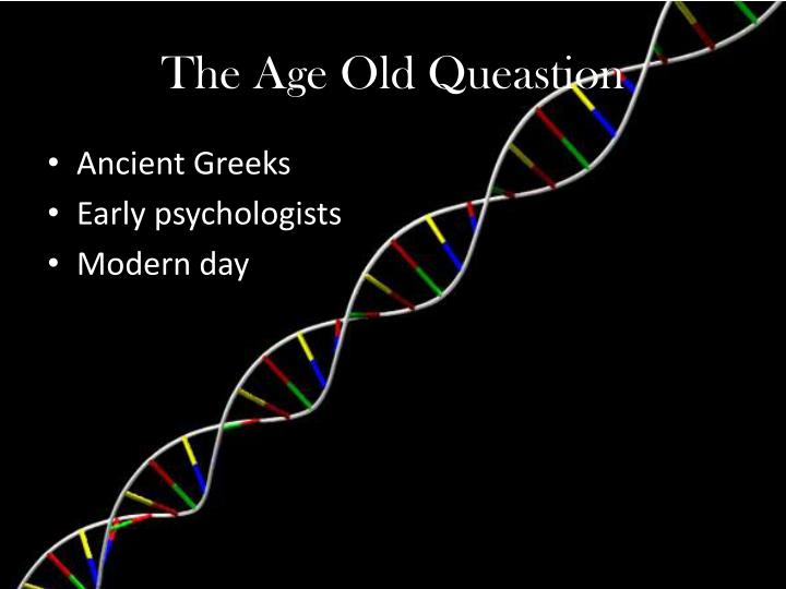 The Age Old