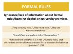 formal rules
