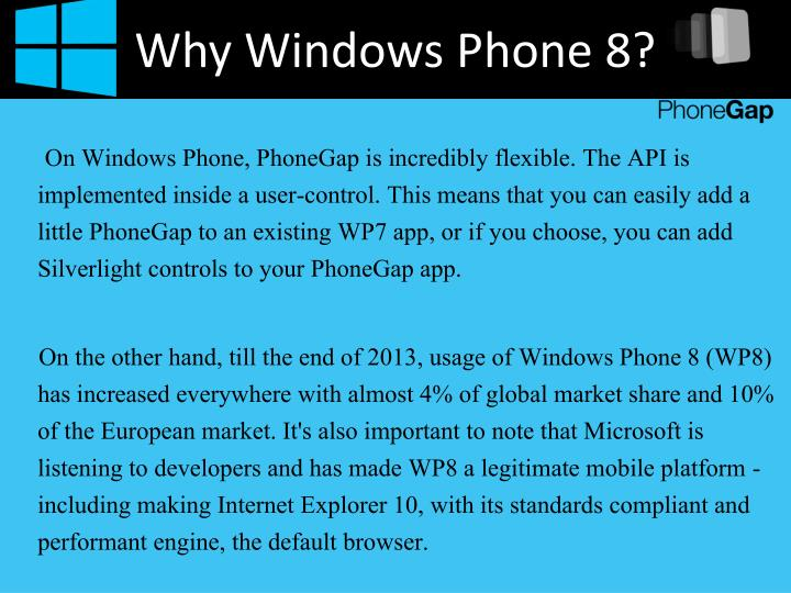 Why Windows Phone 8?