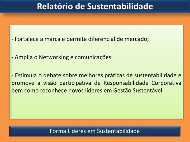 Relatório de Sustentabilidade