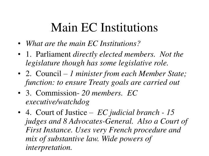Main EC Institutions