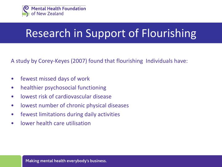 Research in Support of Flourishing