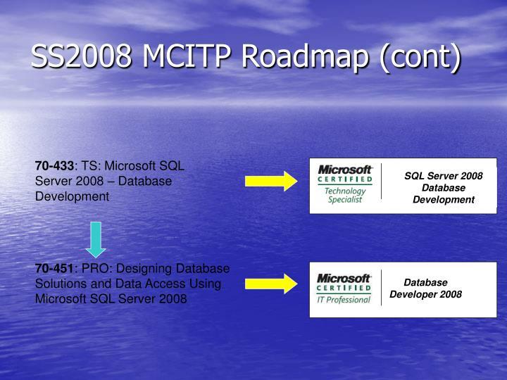 SS2008 MCITP Roadmap (cont)