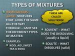 types of mixtures