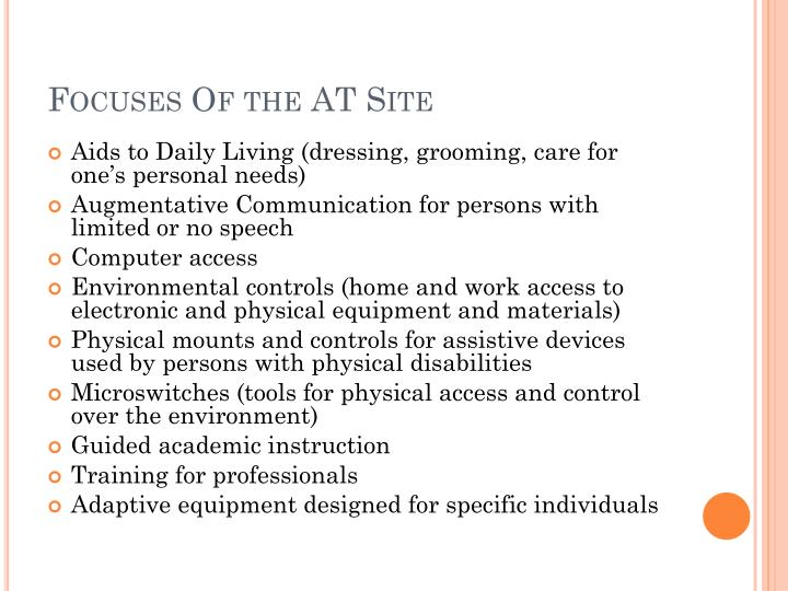 Focuses Of the AT Site