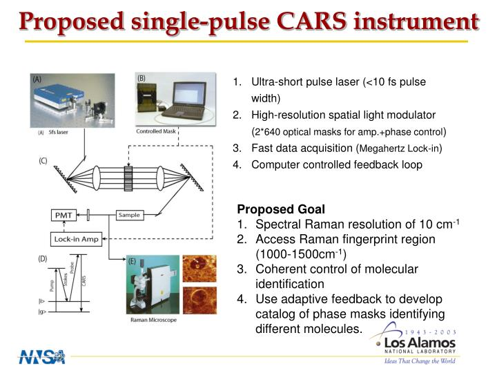 Proposed single-pulse CARS instrument