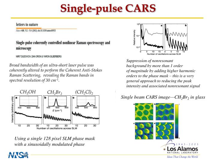 Single-pulse CARS