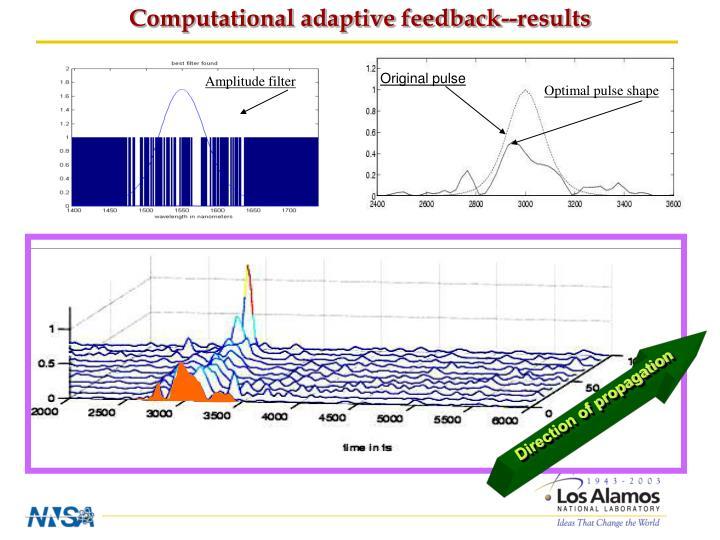 Computational adaptive feedback--results