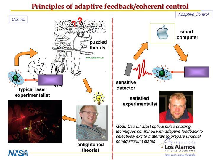 Principles of adaptive feedback/coherent control