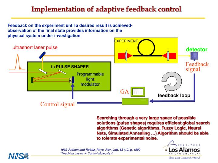 Implementation of adaptive feedback control