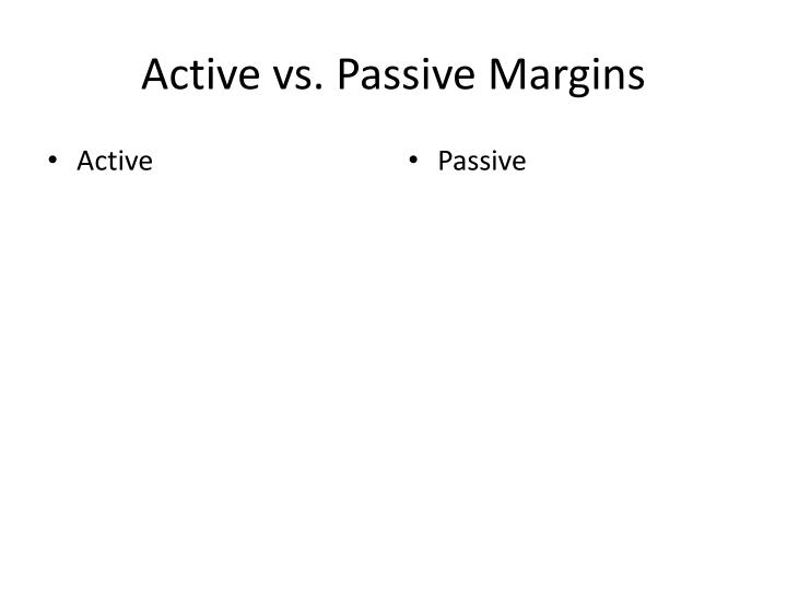 Active vs. Passive Margins
