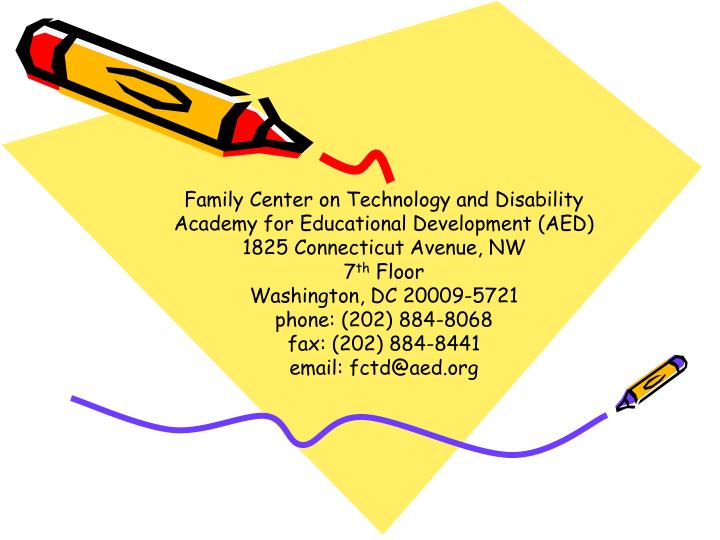 Family Center on Technology and Disability