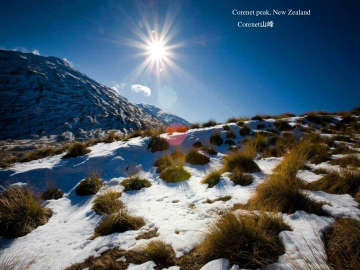 Corenet peak, New Zealand