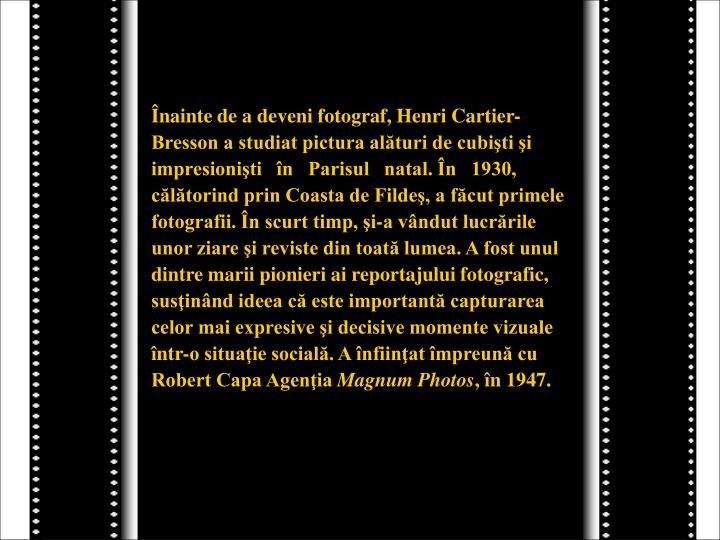 Înainte de a deveni fotograf, Henri Cartier-