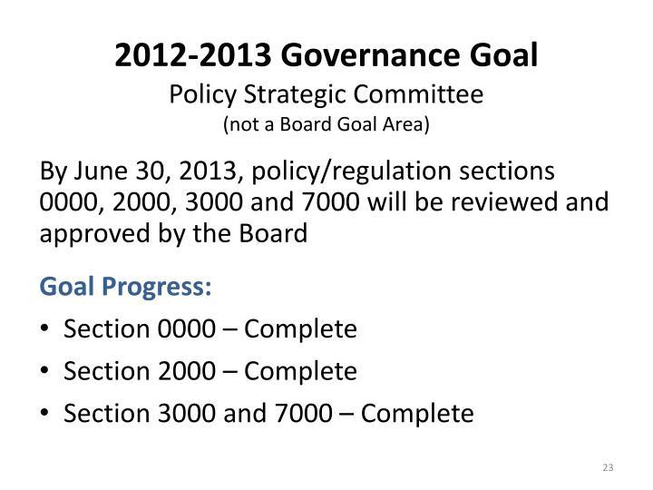 2012-2013 Governance