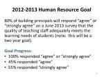 2012 2013 human resource goal