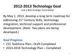 2012 2013 technology goal not a boe strategic committee
