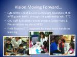 vision moving forward