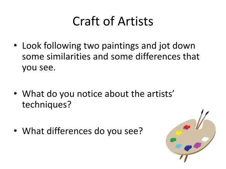 Craft of Artists