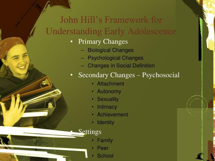 John Hill's Framework for Understanding Early Adolescence
