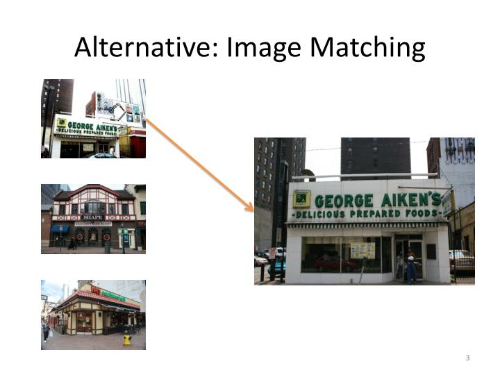 Alternative image matching