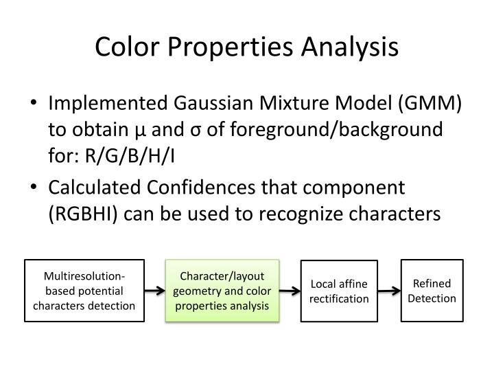 Color Properties Analysis