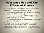 substance use and the effects of trauma1
