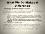 what we do makes a difference1