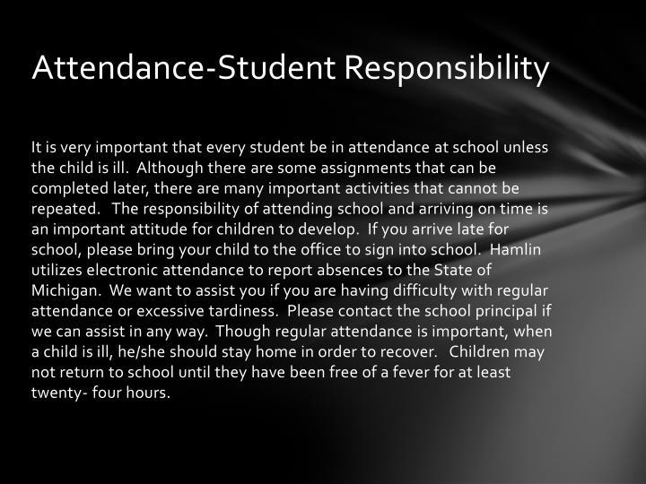 Attendance-Student Responsibility