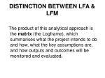 distinction between lfa lfm1