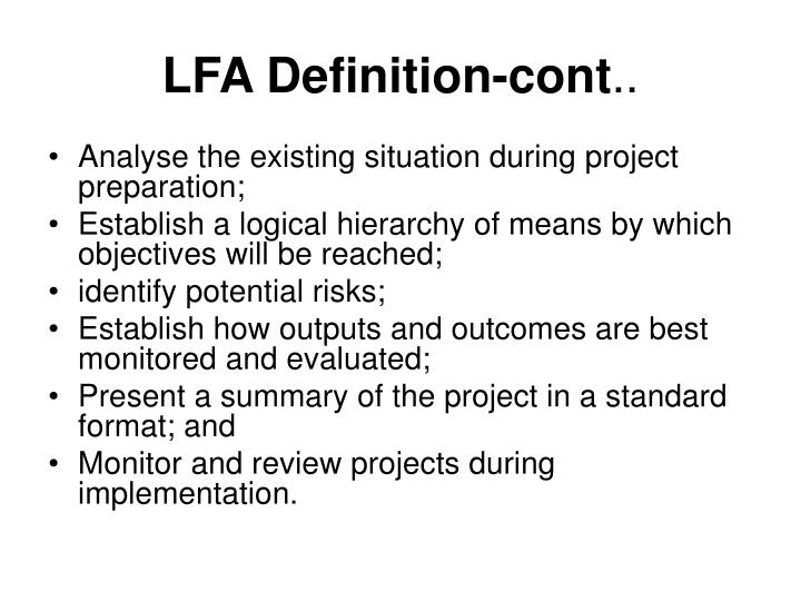 LFA Definition-cont