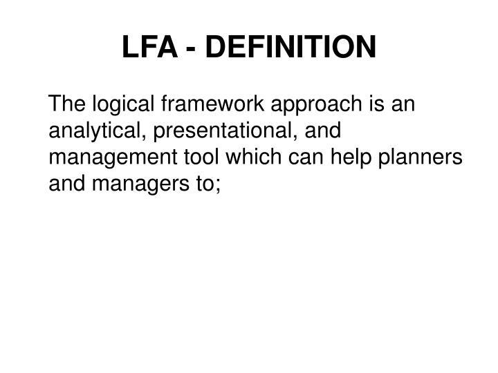 LFA - DEFINITION