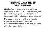 terminology brief description1