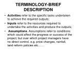 terminology brief description3