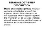 terminology brief description5