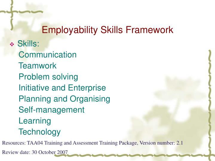 Employability Skills Framework
