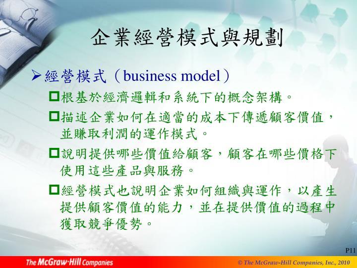 企業經營模式與規劃